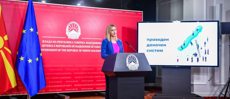 Ангеловска: Прогресивниот данок се става во мирување, следните 36 месеци личниот доход ќе се даночи со 10 проценти