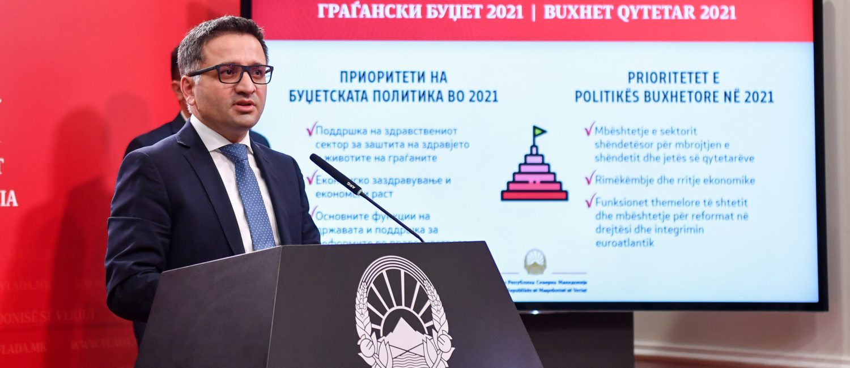 Премиерот Заев и министерот Бесими за Буџетот за 2021 година: Eкономска стабилност и забрзан раст со фокус на здравство и инвест