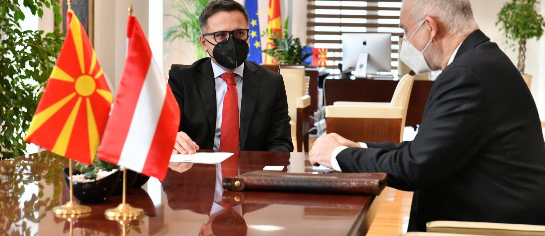 Средба на министерот за финансии Бесими со австрискиот амбасадор