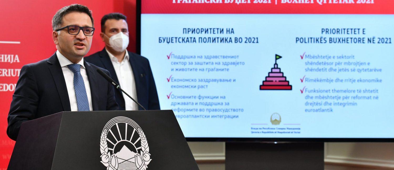 Обраќање на МФ Фатмир Бесими по повод Усвојување на Предлог-буџетот за 2021 година од страна на Владата на Република Севeрна Мак